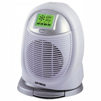 Optimus H-1410 Portable Digital Oscillating Fan Heater with Thermostat and Touch-Screen - Mall Fl Stores