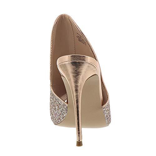 Blush Sinful M Heeled Madden Women's Steve 6 Glitter Us Sandal qv1fxw