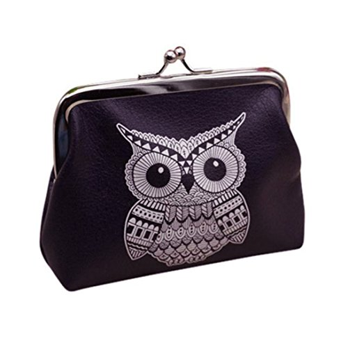 Wensltd Owl Wallet Card Holder Coin Purse Clutch Handbag -