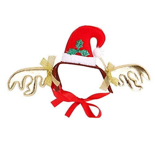 Pet Antlers Headband Holiday Christmas Halloween Costume for Dogs Cats Hair -