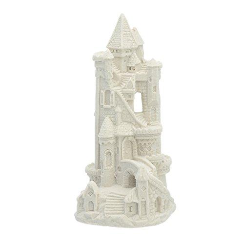 "Sand-Deco Sand Castle Figurine 465 7.25"" Tall Collectible Beach Wedding Decor (White)"