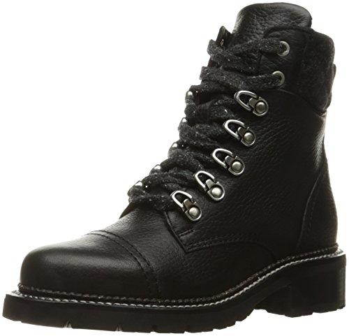 FRYE Women's Samantha Hiker Combat Boot, Black, 8 M US -