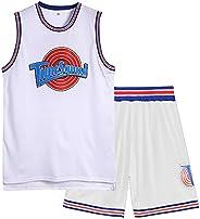 MIHTAO Space Jam Jersey Men,Space Jam Jersey,Men's Space 2 Movie 90s Hip Hop Basketball Jersey Numbe