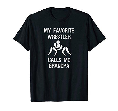 Wrestling Grandpa Shirt - Funny Favorite Wrestler ()