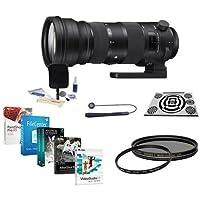 Sigma 150-600mm F5-6.3 DG OS HSM Sport Lens Nikon Cameras - Bundle w/LensAlign MkII Focus Calibration System, UV Filter, Cleaning Kit, Lens Cap Leash, CPL Filter, Pro Software Package