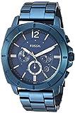 Fossil Men's Quartz Stainless-Steel Strap, Blue, 23.4 Casual Watch (Model: BQ2319)