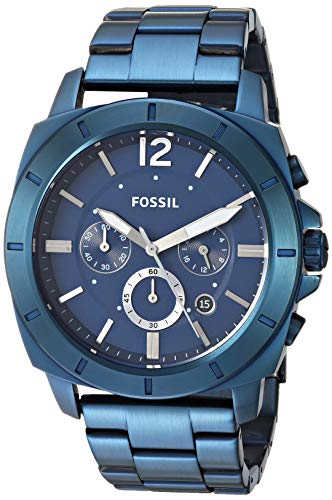 Fossil Men's Quartz Stainless-Steel Strap, Blue, 23.4 Casual Watch (Model: BQ2319)