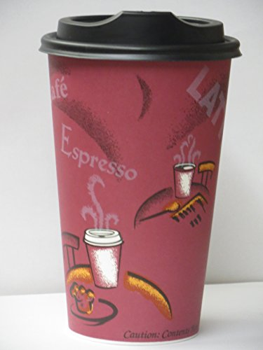 16 oz coffee cups and lids - 6