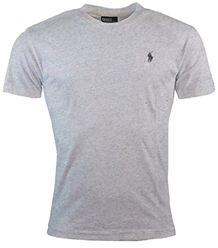 Polo Ralph Lauren Men's Classic Fit Solid Crewneck T-Shirt (2XL, Lawrance Gray) Polo Neck T-shirts