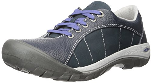 Blue Leather Athletic Shoes (KEEN Women's Presidio Hiking Shoe, Blueberry, 10 M US)