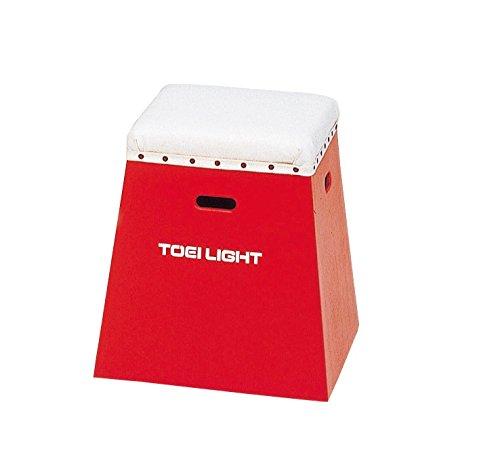 TOEI LIGHT(トーエイライト) 入門用跳び箱50 赤 下部45cm(上部36cm角)×高さ50cm 一体式 保育幼児小学校低学年向 T2267R T2267R B000SNU9S2