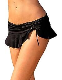 Yacun Women Bikini Brief Bottoms Swim Ruffled Hem Skirt