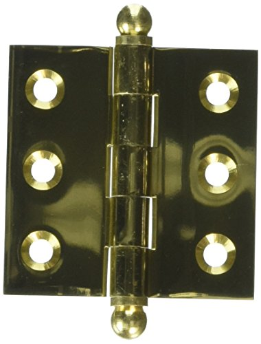 - Deltana CH2020U3 Solid Brass 2-Inch x 2-Inch Cabinet Hinge with Ball Tips
