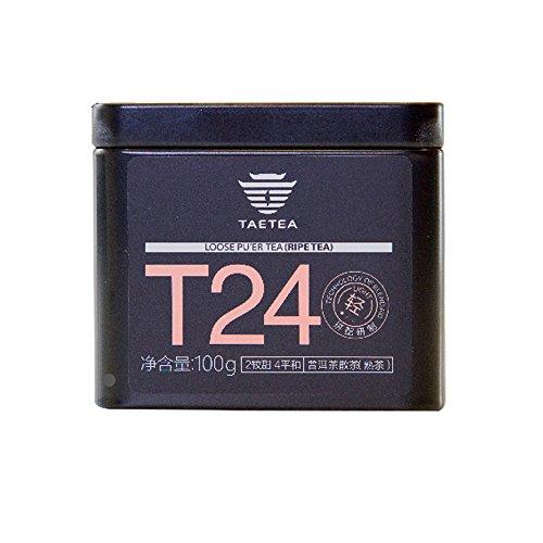 TAETEA T24(Sweetness Grade 2, Mellow Taste Level 4) Loose Organic Black Tea Samplers PU'ER Ripe Tea 100 Grams