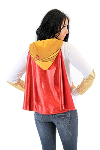 Mighty Fine Masters Of The Universe I Am She Ra White Hoodie With Cape (Juniors XX-Large) by Mighty Fine (Image #2)