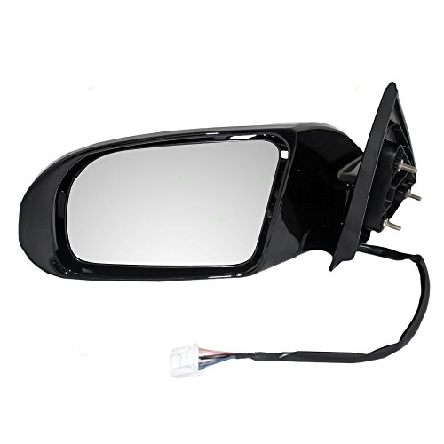 Drivers Power Side View Mirror Heated Signal Smooth Replacement for Nissan 96302-9N83A AutoAndArt