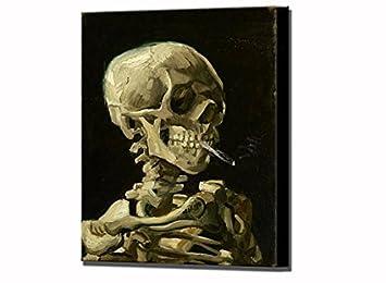 Mort Van Squelette D'un De Burning Avec Gogh Tête Cigarette byf6Y7gv