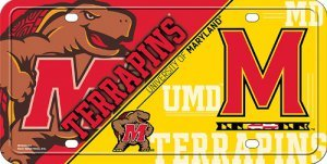 NCAA Maryland Terrapins Metal Auto Tag - Maryland Terps Ncaa Basketball