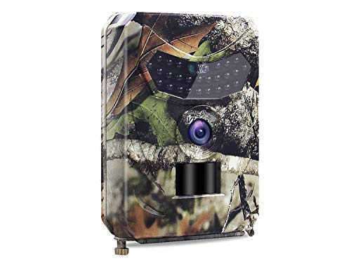 SUNNZO Trail Camera 1080P 12MP both Day&Night,Hunting Scouting Cam for Wildlife Monitoring with 120°Detecting Range Motion Activated,IP56 Waterproof,26 PCS IR LEDs,50ft Effective Range,1S Trigger Time