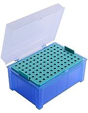 Moon Lab de 4–0076vacías Caja para pipetas puntas, 96puestos, PP, 100–1000µl), Azul