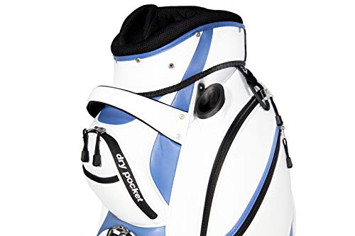 Motor Power and Caddy Cart Bag / Dry Pocket – White/Blue Pro Series