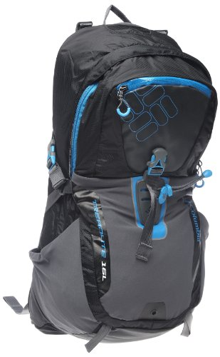 Columbia Treadlite 16 Backpack (Black/ Compass Blue, One Size), Outdoor Stuffs