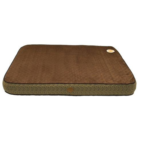 KandH Orthopedic Superior Pet Bed, Large 40-Inch by 50-Inch, Mocha Paw Bone Print, My Pet Supplies