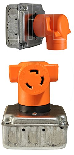 AC WORKS [AD1430L630] Plug Adapter NEMA 14-30P 4-Prong 30Amp Dryer Outlet to L6-30R 30Amp 250Volt Locking Female Connector by AC WORKS (Image #5)