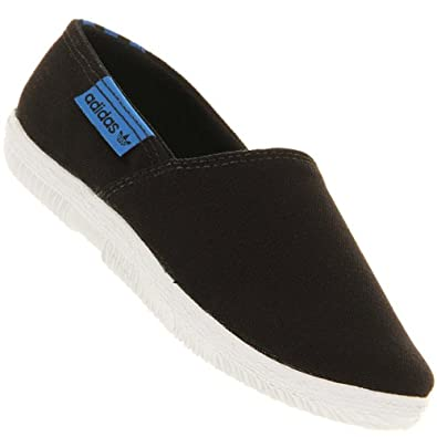 076a6844cccb Adidas AdDrill Canvas PlimSolls Espadrilles Pumps Trainers Black Womens  Size 4  Amazon.co.uk  Shoes   Bags