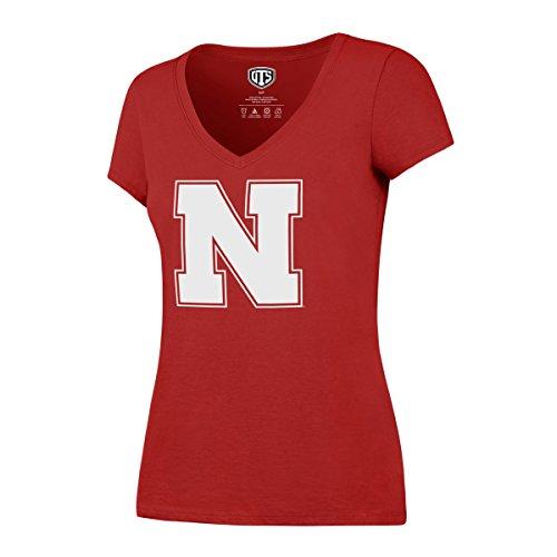 NCAA Nebraska Cornhuskers Women's Ots Rival VNeck Tee, Large, Red
