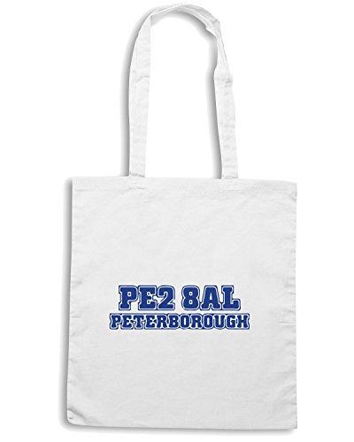 T-Shirtshock - Bolsa para la compra WC1059 peterborough-postcode-tshirt design Blanco
