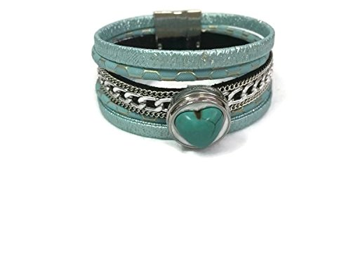 Anastasia Fashion Snap Jewelry Leather Cuff Bracelet Set With 2 Charms Modern And - Jewelry Set Anastasia