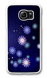 Fashion floral background PC Case Cover for Samsung S6 and Samsung Galaxy S6 White