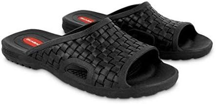 20095e111851aa Okabashi Men s Torino Flip Flops - Sandals Black (B003LZN6M0 ...