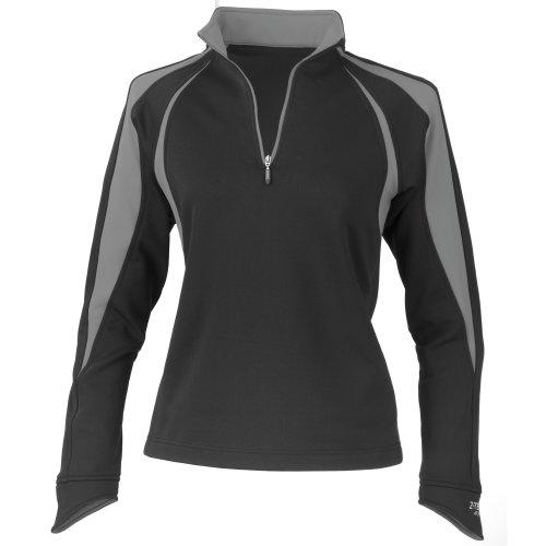 La Femme® - Jersey polar modelo Spiro Sprint Performance para mujer Negro/ Gris