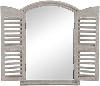 Jolipa 62751 Miroir Avec 2 Volets Bois Taupe 50 X 70 X 5 Cm Amazon Fr Cuisine Maison