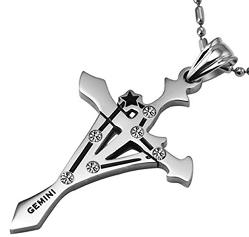Zodiac Stainless Steel Necklaces Pendants - 9