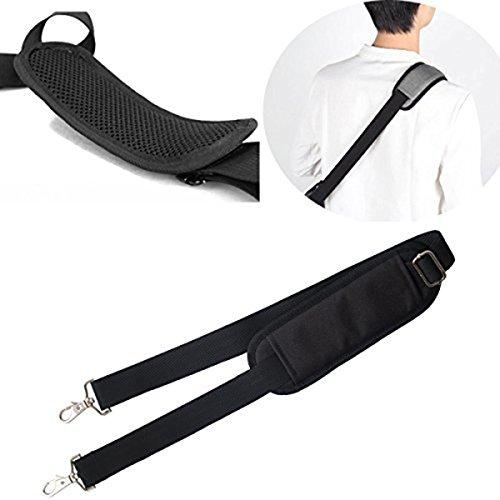 JAKAGO 150cm Universal Adjustable Shoulder Straps Replacement Bag Straps with Metal Swivel Hooks and Non-Slip Pad for Duffel Bag Laptop Briefcase Violin Bag Camera Travel Bag (Black) by JAKAGO (Image #4)