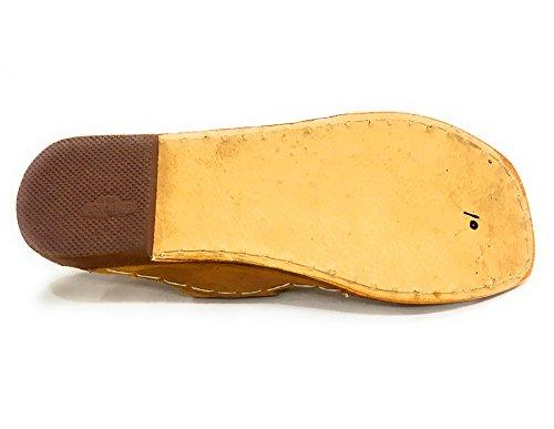Stap N Stijl Traditionele Kolhapuri Handgemaakte Etnische Schoenen Indiase Schoenen Casual Slipon