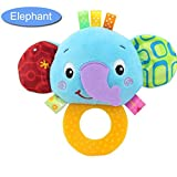 Baby Toys For Boys & Girls - Fun Soft Plush Baby Rattle & Stroller Toddler Toy - Gender Neutral for Newborns (A)