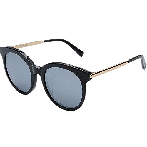 Vacaciones Sol Gafas de Playa Gu Libre Gafas al Sol Hombres Marco Clásico de Lente Aire Negro Acetato de Protección TAC Gato Ojos Polarizadas Peggy UV Rosa Fibra Conducción WASRYqww
