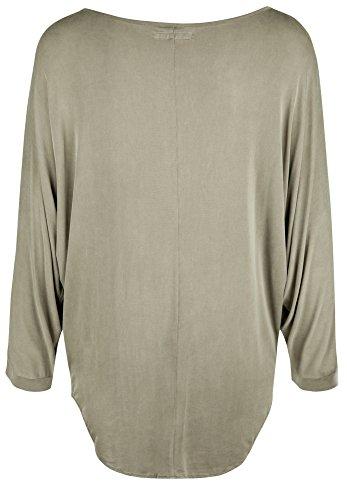 Blaumax 17824005 - Camiseta, con manga 3/4, con cuello submarino para mujer pardo
