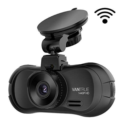 Vantrue X3 WiFi Dash Cam, QHD 2.5K 1440P/30fps 1080P/60fps Dashboard Camera, 170° Wide Angle Car Camera with Amba A12 Chip, Super HDR Night Vision, Parking Mode, Motion Detection, Loop Recording