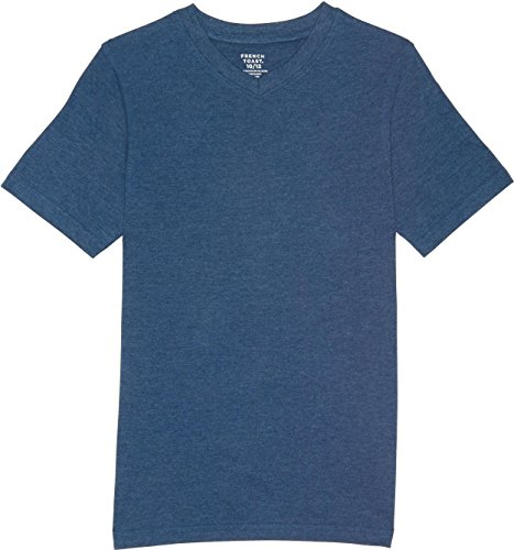 (French Toast School Uniform Boys Short Sleeve V-Neck T-Shirt, Medium Indigo Heather, Medium (8))