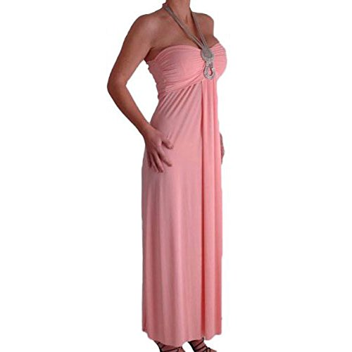 Starlet Bandeau Chain Halter Neck Dress X-Large
