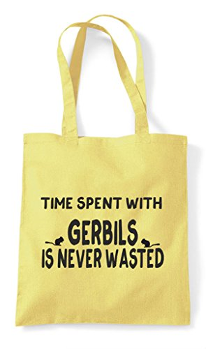 Spent Wasted Never Time Shopper Is Gerbils Lemon Tote Bag With Funny dqwZZXxUTI