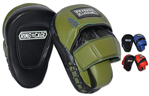 Ultima Leather Punch Mitts 3 Colors (Marine Green)