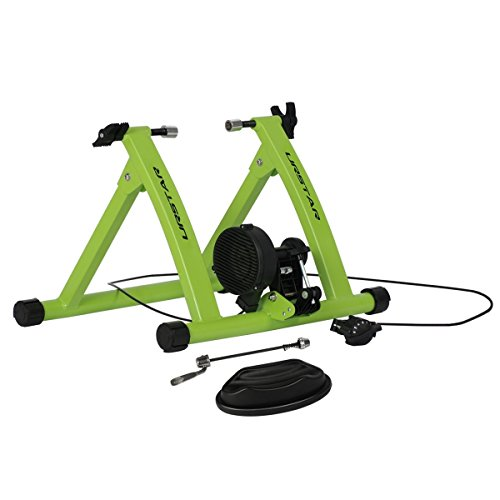 Cheap URSTAR Indoor Bike Trainer Stand, Portable Magnetic Resistance Bicycle Exercise Stand (Green)