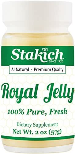 Stakich Fresh Royal Jelly - 100% Pure, All Natural, Highest Quality - No Additives/Flavors/Preservatives Added - 2 oz (67g)