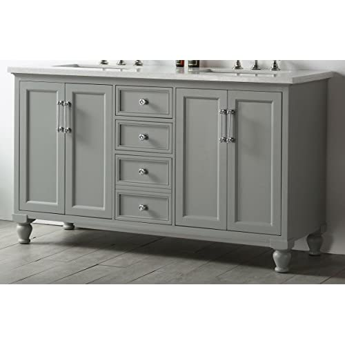 "delicate Legion Furniture WH7560-CG 60"" Wood Sink Vanity with Quartz Top without Faucet"